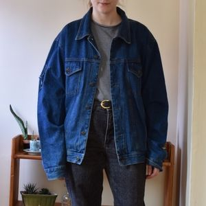 Oversized Vintage Trucker Jean Jacket